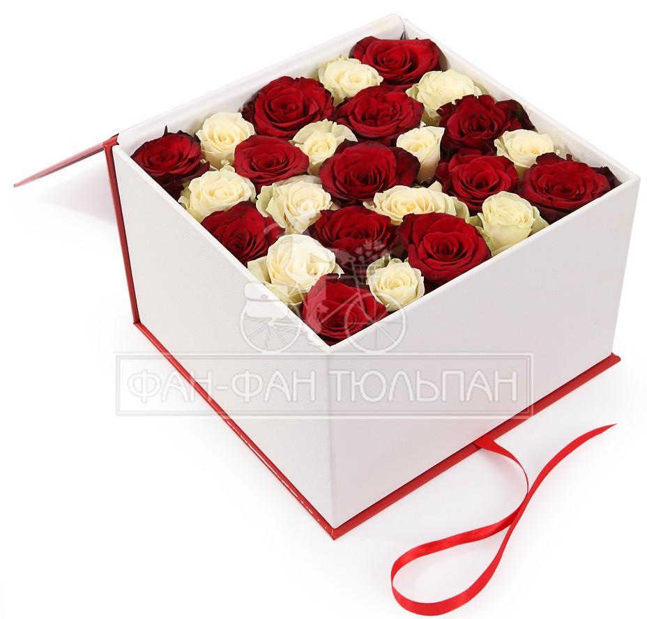 Подарок розы в коробке фото 47